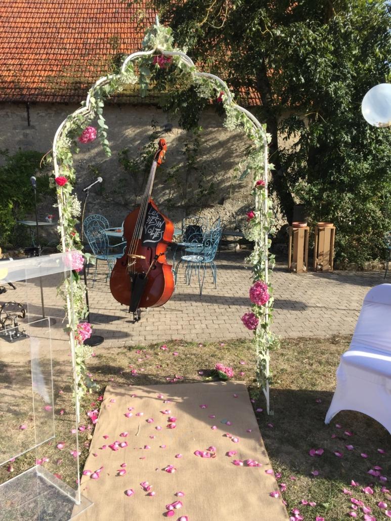 arche pour cérémonie maries sonozikloc ferme de la haute maison